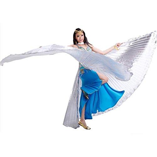 Calcifer Isis-Flügel für orientalischen Tanz, ägyptisches Tanzkostüm-Zubehör, Geschenkidee, silber