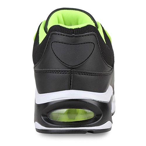 Damen Herren Unisex Laufschuhe Profil Sohle Sportschuhe Fitness Schuhe Schwarz Neongelb Cabanas