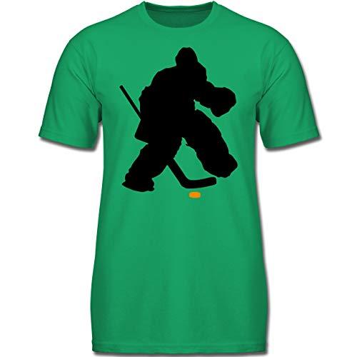 Sport Kind - Eishockeytorwart Towart Eishockey - 116 (5-6 Jahre) - Grün - F130K - Jungen Kinder T-Shirt