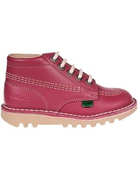 Kickers - Zapatos primeros pasos de Piel para niña Rosa rosa