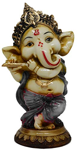 Saubhagya Global Varad God Ganesh Idol/Murti/Statue Decorative Showpiece Gift Item for Car Dashboard
