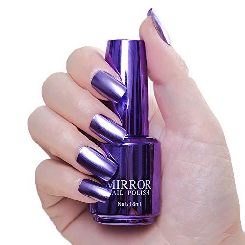 r Lack 8 Farben Metallic Nagellack Spiegel Wunderschöne Glitter AU, 9# ()