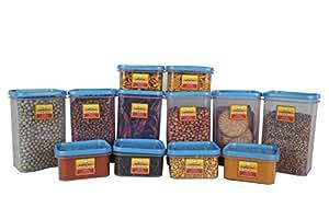Laplast Plastics storewell Container-Storage saver- set of 12- Blue