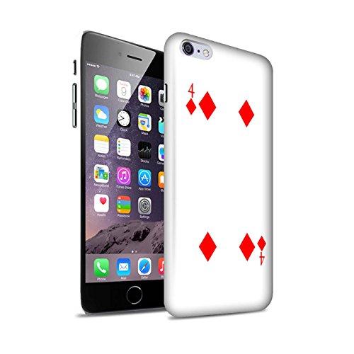 STUFF4 Matte Snap-On Hülle / Case für Apple iPhone 8 Plus / Herz-Ass Muster / Kartenspielen Kollektion 4 von Karo