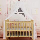 Bambino di estate presepe biancheria da letto zanzariera portatile Dimensioni Rotondo Toddler Baby Bed Mosquito Mesh Hung Dome Curtain Net (bianco)