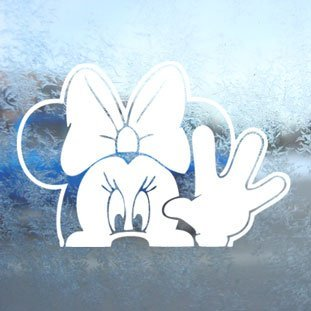 Adhesivo MINNIE MOUSE WAVE White Decal Car Window