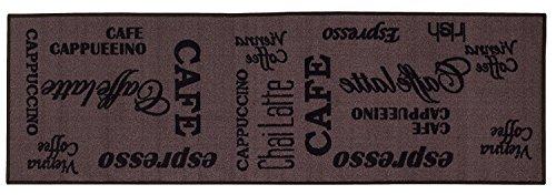 Andiamo 1100390 Küchenläufer Espresso Kurzflor Teppich, 100% Polyamid, braun, 57.0 x 180.0 x 0.5 cm