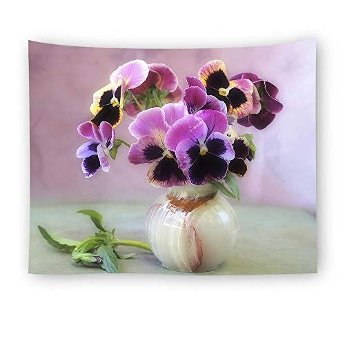 HUA Böhmisches Tapisserie Blumen Ölgemälde Heimtextilien Strandtuch @ Style 3_230X150cm -