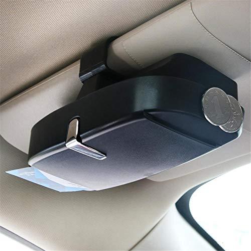 Seasaleshop Auto Brillenhalter Brillenhalterung Brillenbox, Magnetischer Brillenhalter,Brillenablage fürs Auto Brillen Halter Auto für Karte Ausweis Münze mit Kartensteckplätze by