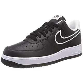 Nike Herren Air Force 1 '07 Leather Fitnessschuhe, Schwarz (Black/White 001), 44 EU