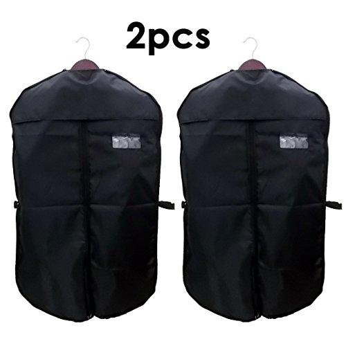 JJOnlineStoreKleidersack, 100cm, atmungsaktiv, für Anzug, Kleidung, Kleid, Jacke, Hemd, mit Reißverschluss für Zuhause, Reisen, zur Aufbewahrung, 2 Stück - 2 Stück-hemd