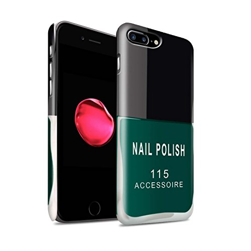 STUFF4 Matte Snap-On Hülle / Case für Apple iPhone 7 Plus / Rot Muster / Nagellack/Make-Up Kollektion Grün