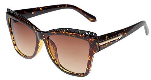 Zbertx Hochwertige Übergroße Sonnenbrille-Frauen-Designer-Große Rahmen-Sonnenbrille Für Die Retro- Frauen-Sonnenbrillen-Schatten Der Frauen,Leopard