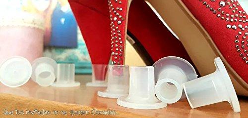 50 pares Cubre Tacones con Bolsa, Protector Tacon, Protege tus zapatos, para no hundirse en suelo, césped, tierra. De Silicona ligeramente Flexibles, Fabricación Española Para Bodas, Boda, eventos