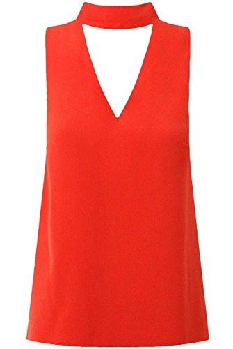 Janisramone - Débardeur - Uni - Sans Manche - Femme * taille unique red
