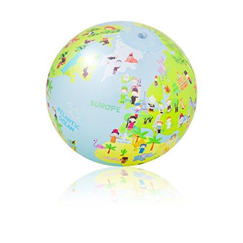 PI-PE Wasserball aufblasbar 29 cm Strandball Weltkugel Atlas Globus Wasserball - tolle Motive - 29 cm (Cartoon)