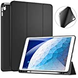 ZtotopCase Custodia per iPad Air 3 10,5 2019 /iPad PRO 10.5 con portamatite, Blocco/sblocco Schermo Automatica per Nuova iPad PRO 10.5 Pollici 2017/2019 Tablet,Nero