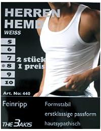 Herren Qualität Sporthemd, Feinripp in 4er_Pack - Weiß