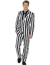 Smiffys, Herren Gauner Anzug, Jacke, Hose und Krawatte, Größe: L, 43536