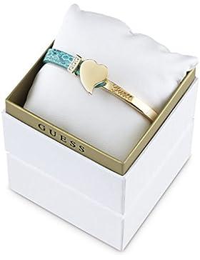 Guess Damen Armband Leder Gold/Türkis Exotic Attitude UBS61029