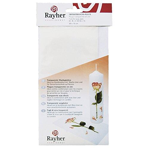 Rayher 3110400 Transfer-Wachsplatte, 20x10 cm, SB-Btl. 2 Stück