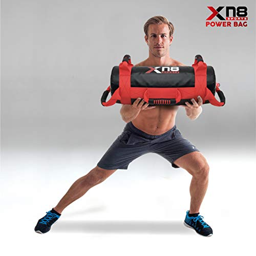 Xn8-Sports-Power-Bag-Sand-Bag-Weight-Lifting-Body-Fitness-Gym-Training-Handles-Crossfit-Workout-Sandbag-Red-20kg