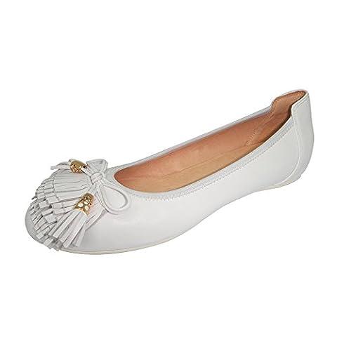 Baideng, Frauen sandalen Schwarz Leder Mode Casual Freizeit Fashion 607-24 Weiß 38