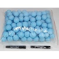 Coface 150Pcs Scrub Mesa de ping pong pelota de ping pong Bolas de la lotería azules