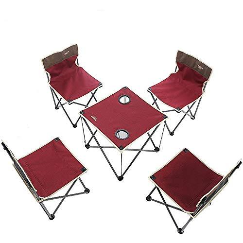 Gghy-camping tables Combinación de Cinco Piezas de Mesa y Silla ...
