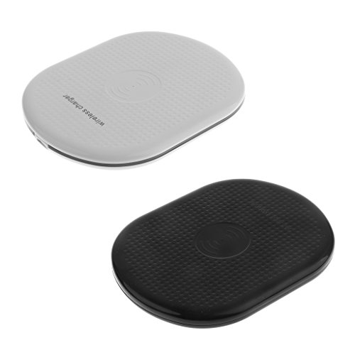 IPOTCH Wireless Ladegerät, Qi Wireless Charger Drahtlose Charging Pad Induktive Ladestation - 2 Stk. (Handy-powermat)