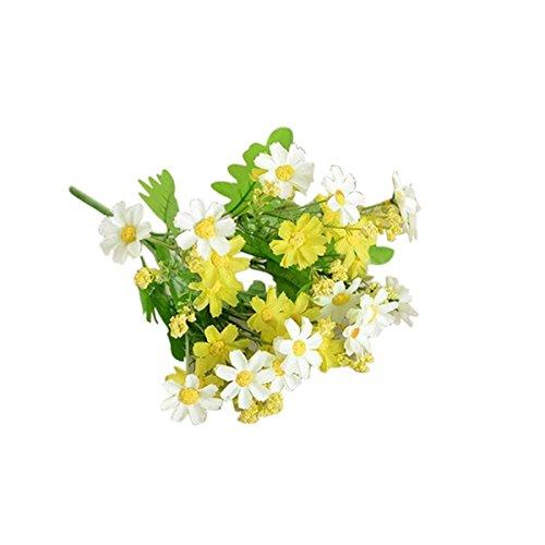 Haisiluo Grün Simulation mit Ginkgo biloba Daisy Gladiolen Blumenstrauß