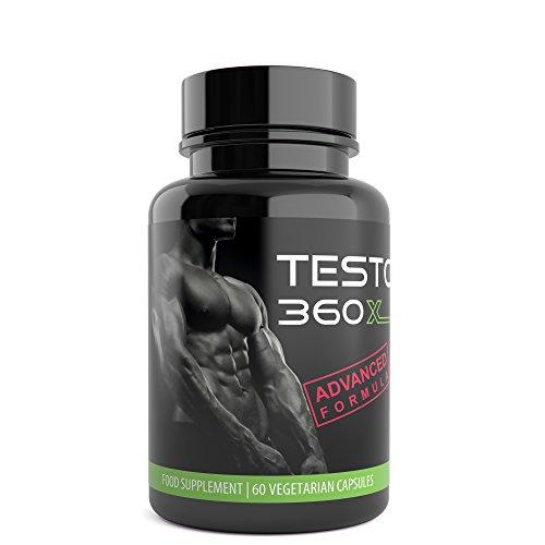 TESTO 360 XL , Testosterone Support with Tribulus Terrestris, Zinc, D Aspartic Acid, Magnesium and Vitamin B6, Premium Sports Nutrition