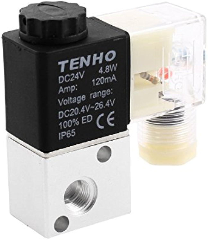3V1-06 DC 24V 2 vías válvula solenoide neumática eléctrica a prueba de agua