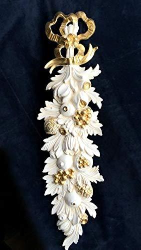Artissimo Wanddeko,Wandrelief Antik in Barockstil, Weiß-Gold, Wandbehang, Ornament, Türbogen,...