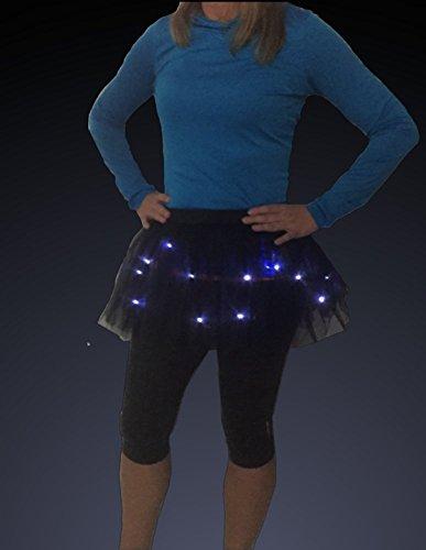 Glow Night 5K Run One Size GLITTER GIRL Womens LED Light Up Running Tutu
