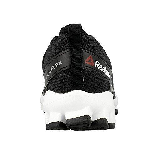 Reebok Realflex Train 4.0, Chaussures de Sport Garçon Noir / Gris / Blanc (Black / Flat Grey / White)