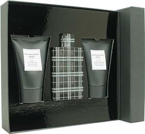Burberry Brit pour Les Homme Coffret - 100 ml Eau de Toilette Vaporisateur + 100 ml Aftershave Balm + 100 ml Shower Gel
