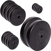 C.P. Sports - Juego de discos de pesas (30/31 mm, 57 kg y114 kg, plástico, entrenamiento de fuerza, fitness, culturismo, placas de contorno), color Juego de discos de 57 kg., tamaño 30 mm