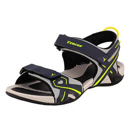 Tracer Men's SD034 Series Grey / Green Synthetic Floater Sandals - 08 UK  available at amazon for Rs.959