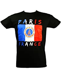 Souvenirs de France - T-Shirt Homme Paris 'Football' - Noir