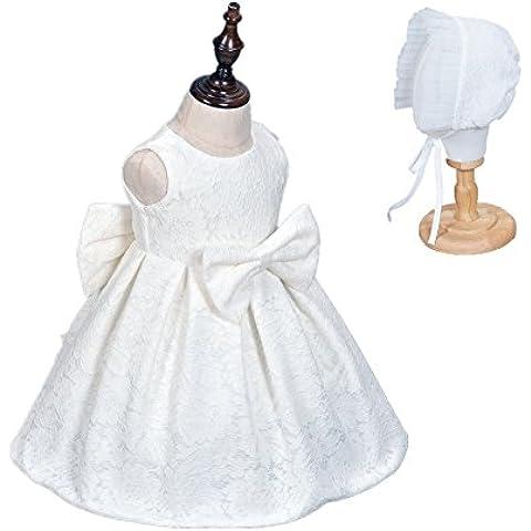 H/B bebé niñas 2pcs Marfil Encaje Pageant fiesta de cumpleaños vestidos con capó 12–18meses