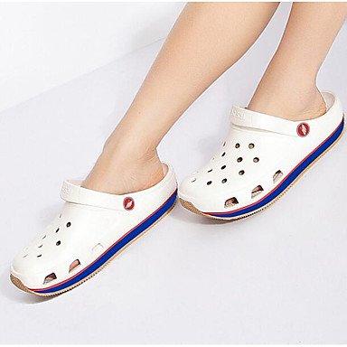 Uomini sandali foro estive Scarpe Casual in gomma,blu White