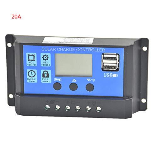 Junecat 20A 12V-24V Digital Display Solar Panel