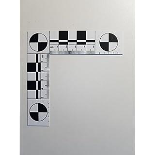 Crime Scene and Photo Angle Ruler, Plastic, Foldable, 5 x 5 cm, White, 1