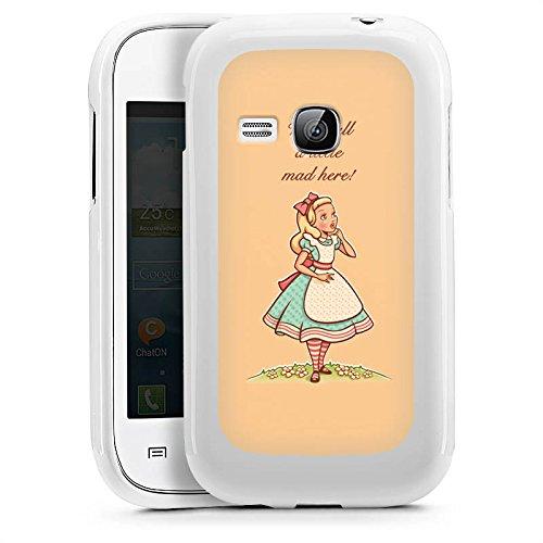 DeinDesign Samsung Galaxy Y TV Hülle Silikon Case Schutz Cover Alice im Wunderland Sprüche Statement (Tv-alice Im Wunderland)