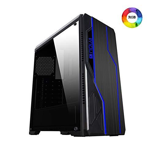 Noua Noob Case ATX Middle Tower Per PC Gaming 0.55MM SPCC 3*USB3.0/2.0 2 Strip RGB Pannello Laterale Full Plexiglass (AxPxL: 450x415x190 mm)