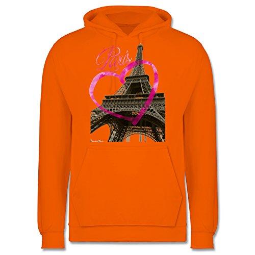 Städte - I love Paris - Männer Premium Kapuzenpullover / Hoodie Orange