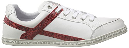 Yellow Cab Pimped Smu, Baskets Basses homme Multicolore - Mehrfarbig (Red)