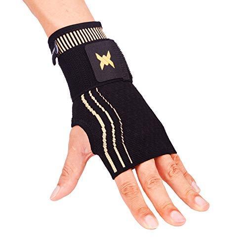 Thx 4 Copper Handgelenk Manschette mit verstellbarem Gurt für zusätzliche Unterstützung-Kupfer Infundierte Kompressionshandgelenkstütze-Entlastung für Arthritis, Handgelenksverstauchungen-Single -