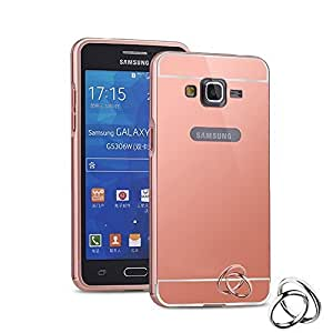 Fonixa Luxury metal bumper and Mirror back cover for Samsung Galaxy E5 Rose Gold